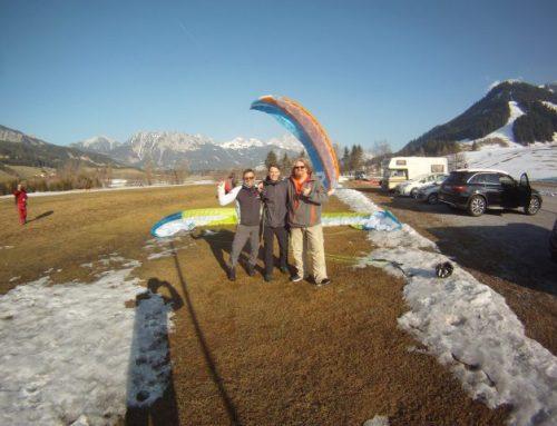 Privat-Coaching für Udo und Niclas… Start am Hahnekamm-Landung Neunerköpfle nach 2 Stunden